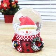 크리스마스 워터볼 스노우볼 6.5cm (눈사람얼굴)