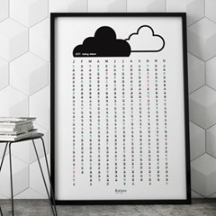 2018 디자인캘린더_ 포스터달력, 북유럽캘린더, 비오는풍경 인테리어
