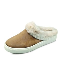 kami et muse Ivory rich fur slippers_KM17w188