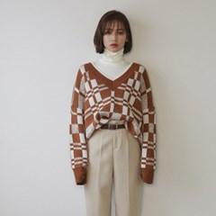 modern check knit