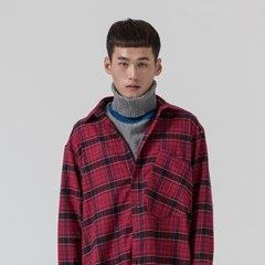CHECK OVERSIZE SHIRTS_RED