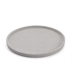 [모노뜨] 엔젤스 원형캔들 플레이트25cm (그레이)