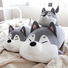 [모찌타운] 허스키 강아지 바디필로우 모찌인형 L