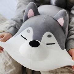 [모찌타운] 허스키 강아지 쿠션겸 모찌인형 M
