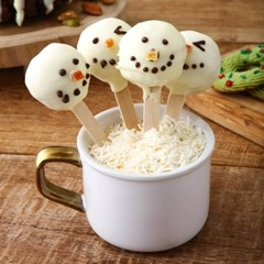 키즈 베이킹 클래스 눈사람 케이크팝 만들기