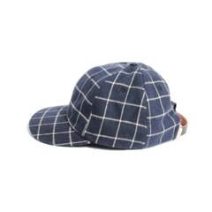 MODERN CHECK BALL CAP - NAVY