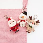 꼬꼬마 크리스마스 열쇠고리, 가방걸이, 장식소품 인형
