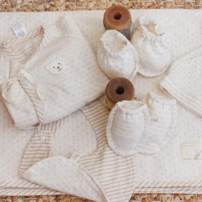 [쏘잉앤맘] DIY 오가닉 도트 배냇저고리 5종 세트 만들기 신생아용품