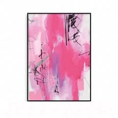 패브릭포스터 인테리어액자 추상화 핑크