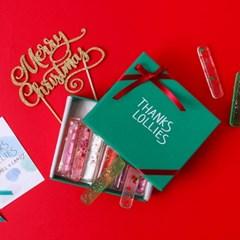 땡스롤리 생화사탕 선물박스 크리스마스 에디션