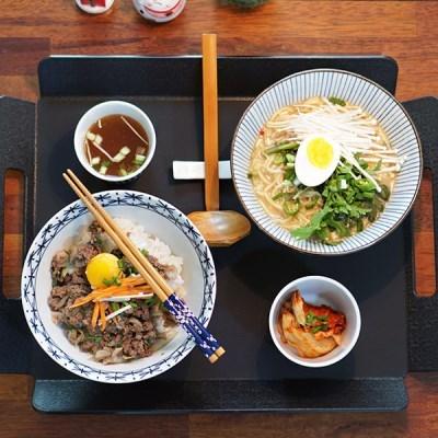 사이카이 일본 도자기 면기 혼면세트 (면기+소그릇+젓가락)