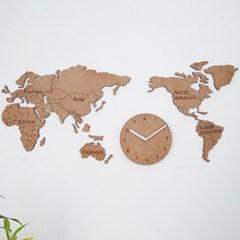 생각대로 세계지도 시계/무소음 시계