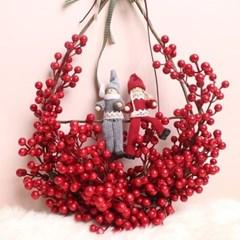 크리스마스 커플 열매 리스(2type)_(1049520)