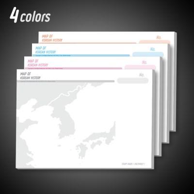 한국사 지도 메모지