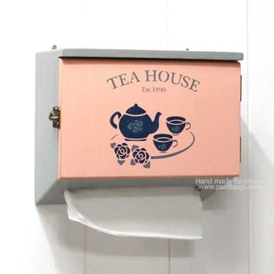 핸드타올 우드케이스-Tea House