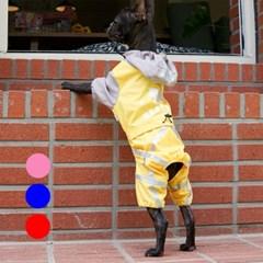 [리얼펫] 컬러풀 레인코트 강아지우비 애견비옷