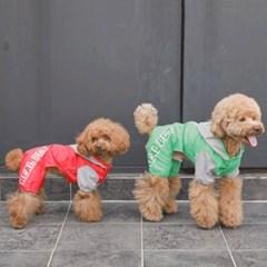 [리얼펫] 국가대표 레인코트 강아지우비 애견비옷