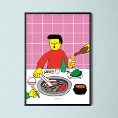 유니크 인테리어 디자인 포스터 M 삼겹살