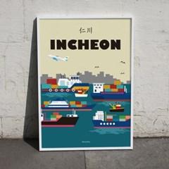 유니크 인테리어 디자인 포스터 M 인천