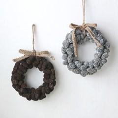 솔방울 리스-캔들링(2color)