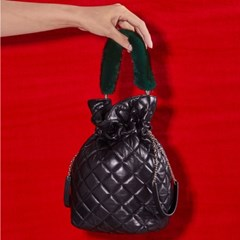 ALICE LEATHER POUCH_DARK GREEN
