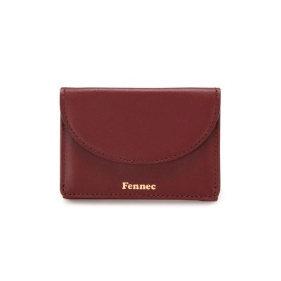 FENNEC HALFMOON MINI WALLET - SMOKE RED