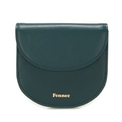 FENNEC HALFMOON WALLET - MOSS GREEN