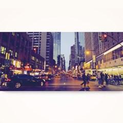 캔버스액자 /CAS530 뉴욕의 밤거리 - 가로 와이드 대형