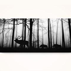 캔버스액자 / CAS528 숲속의 동물-가로 와이드 대형