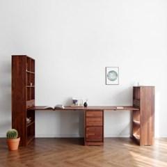 [크림슨] B형 트윈책상/테이블 세트