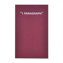 1 Paragraph Softcover-Dark Burgundy