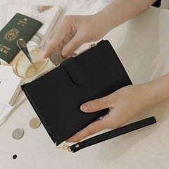 D.LAB DH88 (안티스키밍) Passport Wallet -Black + 별자리스트랩