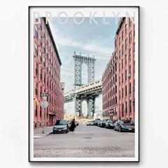 메탈 모던 풍경 사진 포스터 액자 브루클린 동화
