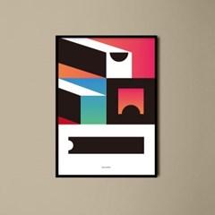유니크 인테리어 디자인 포스터 M 지오메트리 컴포지션2