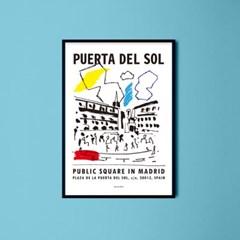 인테리어 디자인 포스터 M 스페인 푸에르타 델 솔 드로잉