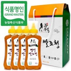 명인 쌀조청 480gX4개입/꿀 조청 물엿/국가지정명인 강봉석