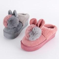 P5941 토끼 방울 보송퍼 슬리퍼(225-250)