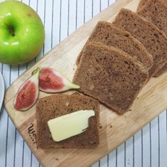 [더브레드 천연발효빵] 유기농 100%통밀 미니샌드위치빵 580g(12pcs)
