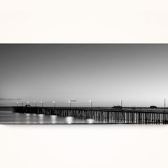 캔버스액자 / CAS535 해변가 다리 - 가로 와이드 대형
