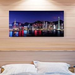 캔버스액자 /CAS533 환상적인 홍콩 야경 - 가로 와이드 대형