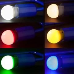 LED 컬러 인지구 3W,인찌구,컬러 전구_(1059560)