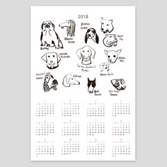 2018년 달력 캘린더 포스터달력 ca02