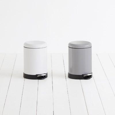 [바이홈] 밀리 무소음 페달 휴지통 원형 5L