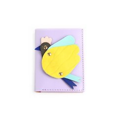 Flying Hen Mini Wallet _ Violet