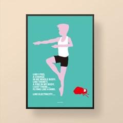 유니크 인테리어 디자인 포스터 M 빌리 엘리엇 영화포스터