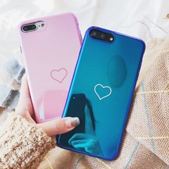 블루라이트 하트 미러 케이스 아이폰X외 애플시리즈