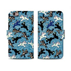 4Pocket Diary cover/ Happy pony blue