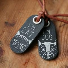 위즈몽키 아임 켓 & 도그 태그 고양이, 강아지, 이름표, 인식표