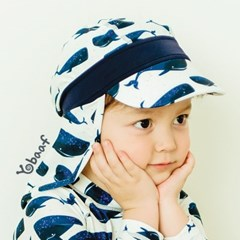 요바프 플랩캡 수영모자_고래