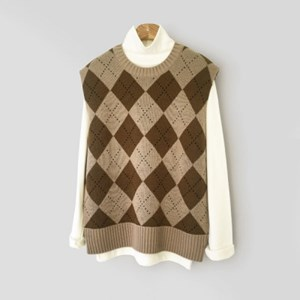 Argyle Knit VEST (3-color)